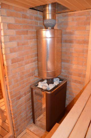 Банная печь Вира Кристалл 18 в среде естественного обитания