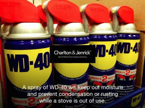 Совет из-за рубежа: смазывайте стальные печи WD 40  и они не заржавеют!