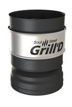 Оголовок-дефлектор К, AISI 430 0,5мм/ОС 0,5мм (D115/250), черный(термостойкая краска)